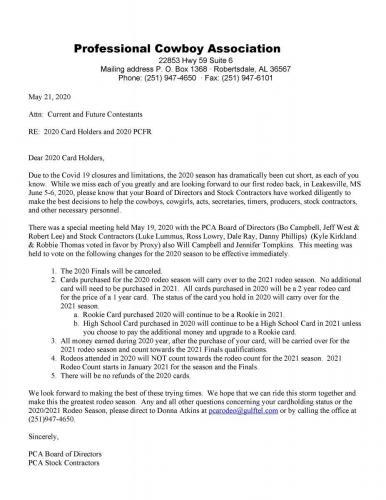 Covid 19 letter pdf